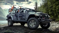 The new Jeep Gladiator 2020 is revealed on at the Los Angeles auto show. Jeep has confirmed the Gladiator will be available in four different model, Sport, Sport S, Overland, and Rubicon. Wrangler Jeep, Jeep Wranglers, Jeep Rubicon, Jeep 4x4, Mopar Jeep, Jeep Pickup Truck, Jeep Cars, Pickup Camper, Jeep Gladiator