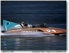1956 U-4 U4 Miss Tempest would later become the 1957 Miss Bardahl and 1958 Miss Burien.  classic unlimited class hydroplane hydroplanes hydro hydros racing boat boats