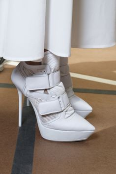 bright white heels at #DKNY #Spring2013