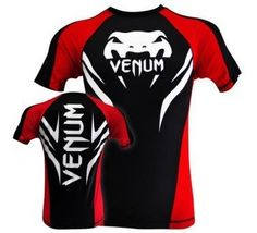 "Venum ""Electron 2.0"" Rashguard - Black - Short Sleeves (M) by Venum. $54.90. This Top quality rashguard have been designed with our famous Electron 2.0 Pattern. Beyond extremely attractive design a special attention have been made for durability. All Venum's logos are sublimated and all the stiching are reinforced. ""Electron"" 2.0 rashguard will go with you at the gym days after days, months after months without sign of decline! Technical Features: - Spandex con..."