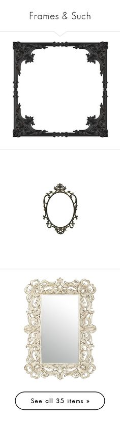 """Frames & Such"" by filigreemonstre ❤ liked on Polyvore featuring home, home decor, black home decor, goth home decor, gothic home accessories, gothic home decor, frames, backgrounds, fillers and borders"