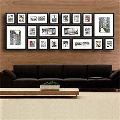 Imwant this for our wall, where all of our works will be there :) Photo Picture Frames, Frames On Wall, Wall Collage, Home Wall Art, Decoration, Home Projects, Family Room, Sweet Home, Gallery Wall