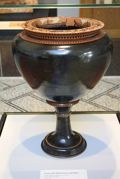 An Attic Black-figure Dinos with Stand Attributed to the Circle of the Antimenes Painter, An Exceptionally Austere and Grand Vase Mycenae, Greek Pottery, Greek And Roman Mythology, Black Figure, Greek History, Antiquities, Ancient Greece, Crete, Ceramic Pottery
