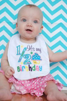 It's My 1/2 Birthday Reversible Embroidered by bohemianbabycouture