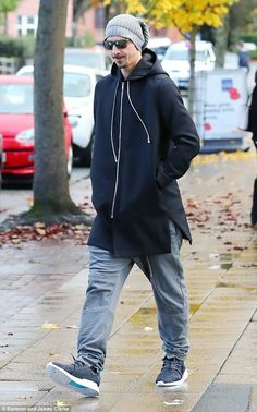 Zlatan out and about in Manchester.
