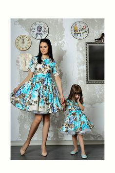 Mommy and Me Dress for Easter and wedding from Etsy fashion shop