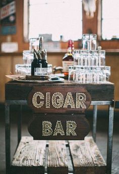 Gigar Bar for a rustic feel at you Wedding |