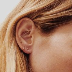 Tiny earrings, multiple piercings, minimalist accessories, boho accessories