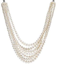 HinsonGayle DIVA Collection 7-Strand Handpicked Ultra-Iridescent White Circlé Baroque Cultured Pearl Necklace (Sterling Silver) HinsonGayle Fine Pearl Jewelry,http://www.amazon.com/dp/B00419244Q/ref=cm_sw_r_pi_dp_QGNJrbCCA8074093