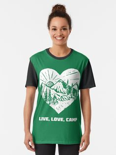 A Day In The Perfect Live Love Camp Life  Take time out from your life and enjoy a perfect day in the live, love, camp adventure.  Pack your tent, food, kids and the dog or is it a camping trip for you and your lover.  An ideal design for the camping enthusiast or a special gift for your best friend.  #livelovecamp #outdoors #camping #getoutside #campfire #campvibes #giftideas #fashion #onlineshopping #artsandcrafts #redbubble #art #redbubbleshop #ad #findyourthing @redbubble @giftsbyminuet Perfect Live, Live Love, Food Kids, Life S, Camping Life, Your Best Friend, Glamping, Special Gifts, Chiffon Tops