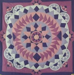 mandala violet flower Art Work, Mandala, Quilts, Blanket, Flowers, Artwork, Work Of Art, Quilt Sets, Blankets