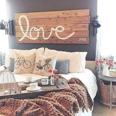 Items for a Perfect Fixer Upper Style farmhouse bed frame anyone can replicate for a rustic country home you will love