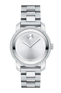 Movado 'Bold' Diamond Bezel Bracelet Watch, 36mm available at #Nordstrom