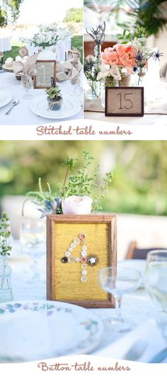 Stiched table numbers