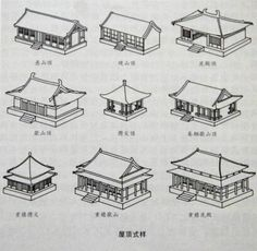 On Chinese architecture - Roofs Ancient Chinese Architecture, Japan Architecture, Temple Architecture, Architecture Drawings, Futuristic Architecture, Architecture Office, Japanese Buildings, Japanese Tea House, Japan Garden