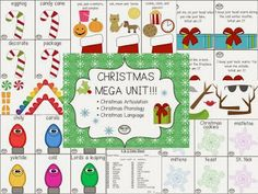Bright Ideas Speech-Language Pathology: CHRISTMAS MEGA UNIT!!!! Pinned by SOS Inc. Resources. Follow all our boards at pinterest.com/sostherapy/ for therapy resources.