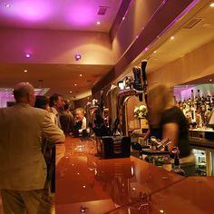 Bar top and drinks display, Trents Torquay, Devon, England