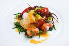Crayfish dish at Le Manoir Aux Quat' Saisons