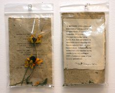 A Memory and a Dream - Poem in a Bag