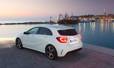 Mercedes-Benz A-Class. Fuel consumption combined: 6,4-3,6 l/100km, CO2 emissions combined: 148-92 g/km. #MBCars