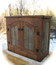 Image detail for -Rustic Furniture by Don McAulay Rustic Cabinets For Sale: Rustic . - Home Decorating Inspiration Barn Wood Projects, Furniture Projects, Furniture Plans, Diy Furniture, Furniture Design, Furniture Knobs, Garden Furniture, Furniture Depot, Furniture Cleaning