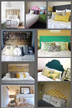 Really want to make a fun headboard. Like the doors and pallets the best