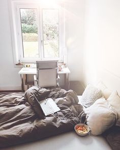 """robin """"you will only be as happy as you decide to be""""✨ — — Another picture of my new room🙈😌But I am missing it so much - take me back dear bed! My New Room, Robin, Bed, Happy, Table, Instagram Posts, Furniture, Home Decor, Homemade Home Decor"""