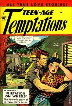 """Teen-Age Temptations Davis Crippen (""""D"""" Copy) pedigree (St. Matt Baker - Available at Amazing Comics Auction Comic Book Artists, Comic Artist, Comic Books Art, Trailer Park Girls, Matt Baker, Crime, Teenage Wasteland, Romance Comics, True Love Stories"""