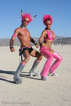 Burning man costume love the arm bands