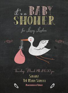 Etsy - Stork Baby Shower Invitation - Digital File