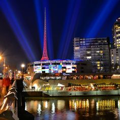 Lights across the Yarra for #aids2014