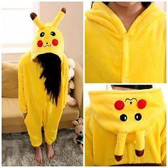 Mignon Pikachu enfants Kigurumi pyjamas de vêtements de nuit - EUR € 16.35