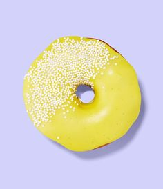 Lemon Sprinkles donut, perfect to serve at your wedding reception