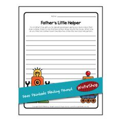 Father's Day | Free printable writing prompt