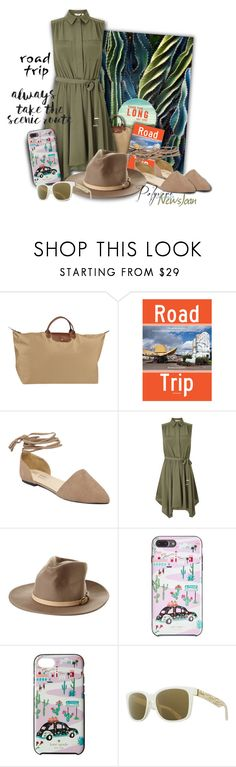 """""""Miss Selfridge - Road Trip"""" by newsjoan ❤ liked on Polyvore featuring GET LOST, Longchamp, Rizzoli Publishing, Miss Selfridge, Billabong, Kate Spade and VonZipper"""