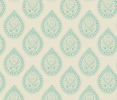 Mumbai in  turquoise fabric by domesticate on Spoonflower - custom fabric