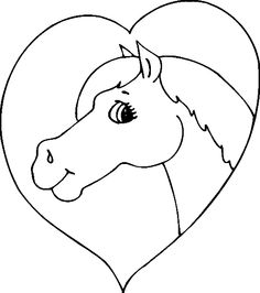 horse coloring pages horse and heart coloring page animal jr - Kids Coloring Pages Horses