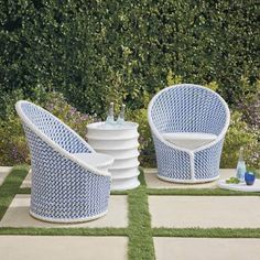 Perfect for an evening of cocktails and conversations, our Maxen Swivel Chairs are a charming addition to your outdoor space. Durable aluminum frames are hand-wrapped in all-weather resin wicker that withstands harsh weather and resists fading. Durable aluminum frame Handwoven all-weather wicker 360 swivel base Cushion sold separately Imported Please note: Digital renderings of custom upholstery may differ in pattern placement from the actual item. Because colors can vary from screen to screen,