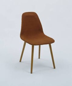 Side Chair  Charles Eames (American, 1907-1978), Eero Saarinen (American, born Finland. 1910-1961) and Marli Ehrman (American, born Germany. 1904-1982)    1940. Molded wood shell with Honduras mahogany veneer, foam rubber, upholstery, and wood legs