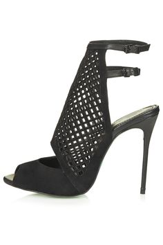 Black Amped Up Sandals by CJG from Topshop #shoes #heels #black