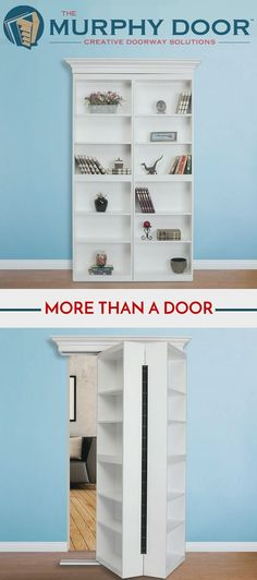 Create the perfect reading nook with the Surface Mount Door.  It comes with a lifetime warranty on hardware and labor.  #interiordesign