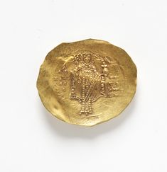 Beautiful medieval turkish gold coin. Looks Christian. Maybe Constantine?