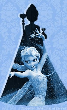 "I love how this picture captures the free, wild side of Elsa trapped inside ""the good girl she always has to be."""