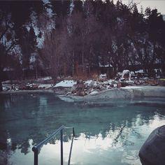 Steaming hot springs? Fine by me!! #cottonwoodhotsprings