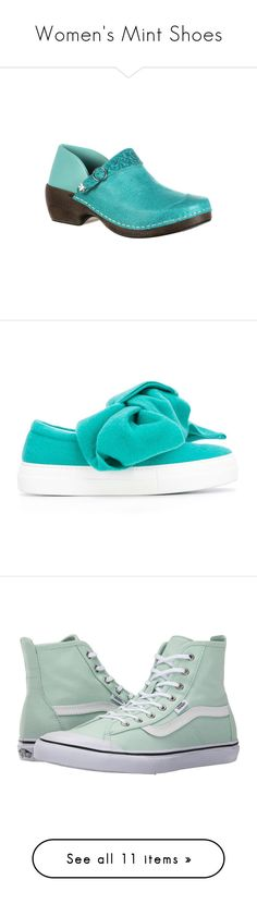 """Women's Mint Shoes"" by eternalfeatherfilm on Polyvore featuring shoes, clogs, casual, casual shoes, turquoise, anti slip shoes, leather clog shoes, long shoes, genuine leather shoes and cushioned shoes"