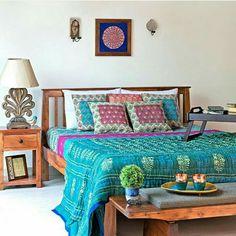 Indian bedroom. Simple yet elegant