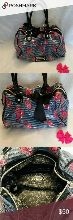 Betsey Johnson bag Beautiful sequin, like new bag by Betsey Johnson. Never used. Excellent price for this bag!! Betsey Johnson  Bags Satchels