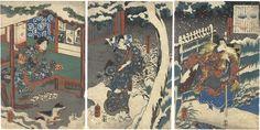 by Kuniyoshi / 熊若丸・篠塚伊賀の妻・篠塚伊賀の娘 国芳