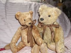 Two of my ( Maggie Buchanan ) traditional teddies that are in my 900+ bear Hug