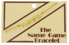 """Make it obvious """"I am Lois Lane""""  Name Bracelet Lois Terry Name Game Gold Tone by KensieKitsch"""